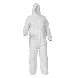 Overol de Protección Antifluido Blanco Talla Única