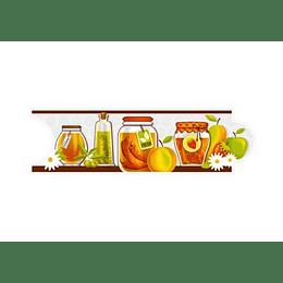Listello para Cocina Melosa Multicolor 8 x 25 cm