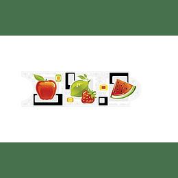 Listello para Cocina Calenda Multicolor 8 x 25 cm
