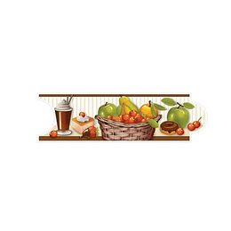 Listello para Cocina Pecatto Multicolor 8 x 25 cm