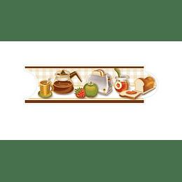 Listello para Cocina Antojos Café 8 x 25 cm