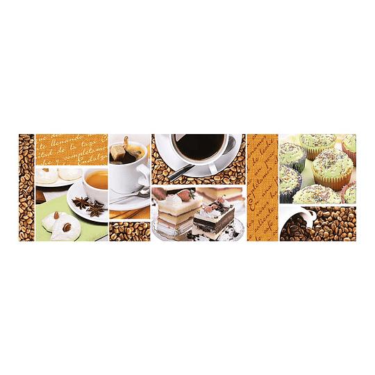 Listón Euforia Café Cara Única 13.5 x 43 cm