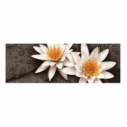 Base Deco Flor de Lotto Negro Cara Única