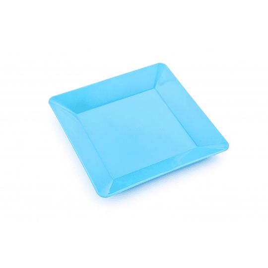 Plato Cuadrado Azul 22.3X22.3X3Cm
