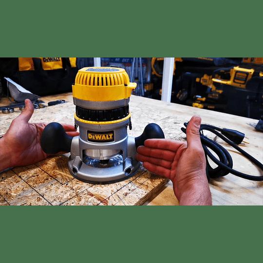 Ruteadora Industrial de Base Fija DW616 + Guía DW6913