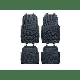 Juego de Tapetes para Auto Velcro Negro