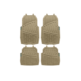 Juego de Tapetes para Auto Velcro Beige