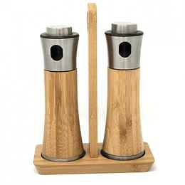 Set Aceitera Y Vinagrera Bamboo