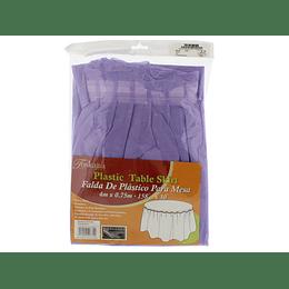 Falda Morada de Plástico para Mantel