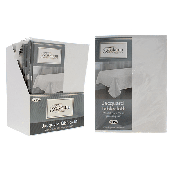 Mantel Redondo para Mesa Blanco 152.4 cm