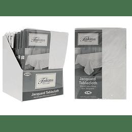 Mantel para Mesa Tipo Jacquard Blanco 145 x 213 cm