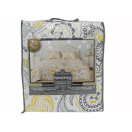 Juego de Sobrecama Comforter Twin Multicolor