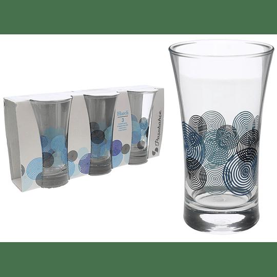 Juego de Vasos de 300 ml por 3 Und