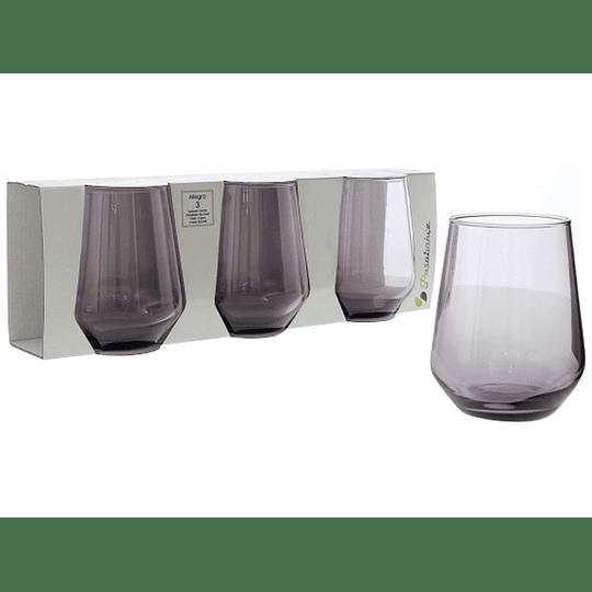 Juego de Vasos Allegra Morado de 425 ml por 3 Und