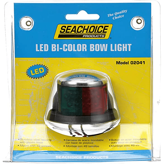 Luz Led de Navegación Bicolor Babor/Estribor Acero Inoxidable