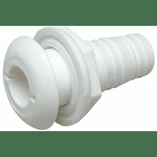 Conector Pasacascos de Plástico con Brida de 1/2