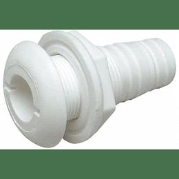 """Conector Pasacascos de Plástico con Brida de 5/8"""""""