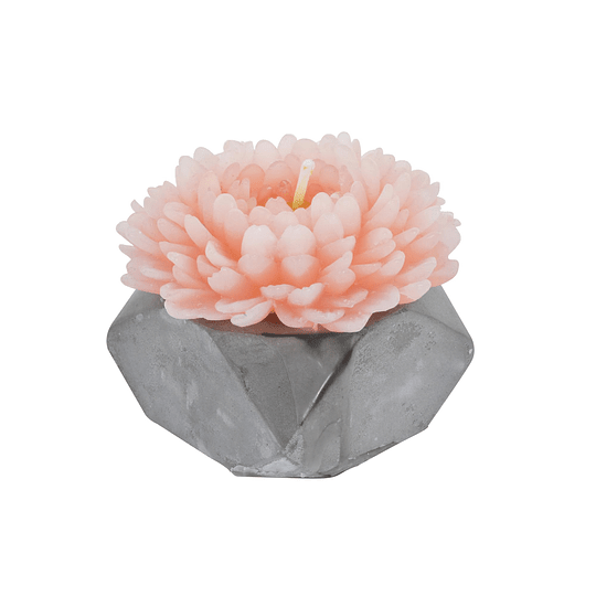 Vela Flor de Coral Rosada