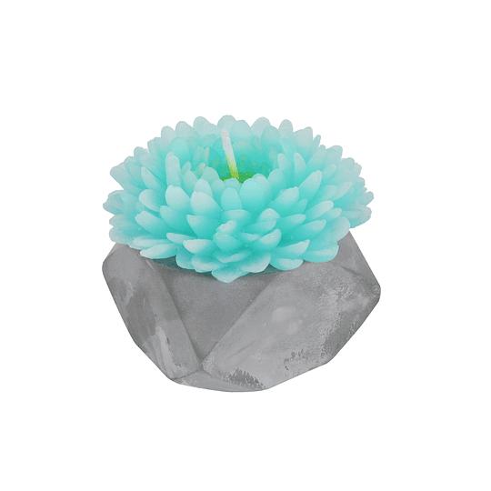Vela Flor de Coral Azul Marino