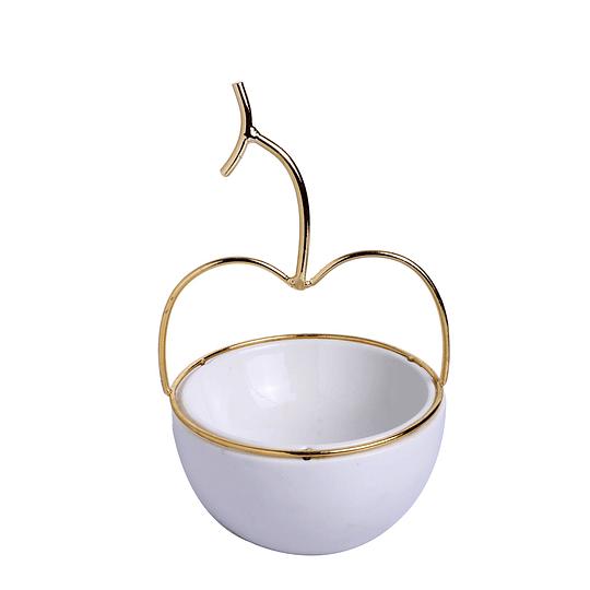 Pote Decorativo Manzana 13 x 21.5 cm