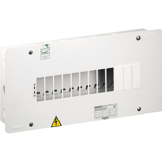 Tablero Monofásico 120 V 12 circuitos VTQ 75 A