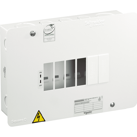 Tablero Monofásico 120 V 6 circuitos VTQ 75 A