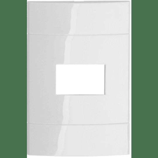 """Placa 1 Módulo 4"""" X 2"""" Blanco Puro"""
