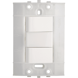 Interruptor Doble Blanco Decor