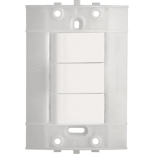 Interruptor Triple Blanco Blanco Decor