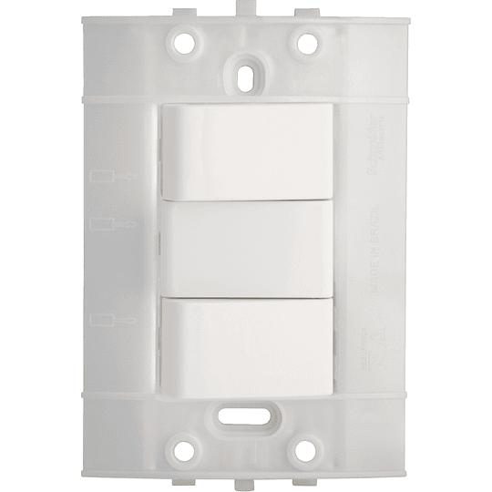 Interruptor Conmutable Doble de 3 Vías Blanco Decor