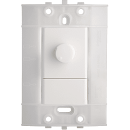Dimmer Sencillo Giratorio 120 Vca 300 W Blanco Decor