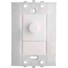 Dimmer Sencillo Giratorio 120 Vca 300 W Blanco Decor
