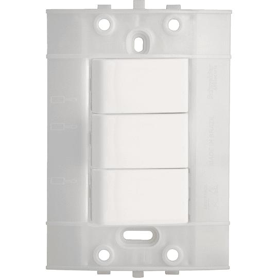 Interruptor Conmutable Triple de 3 Vías Blanco Decor