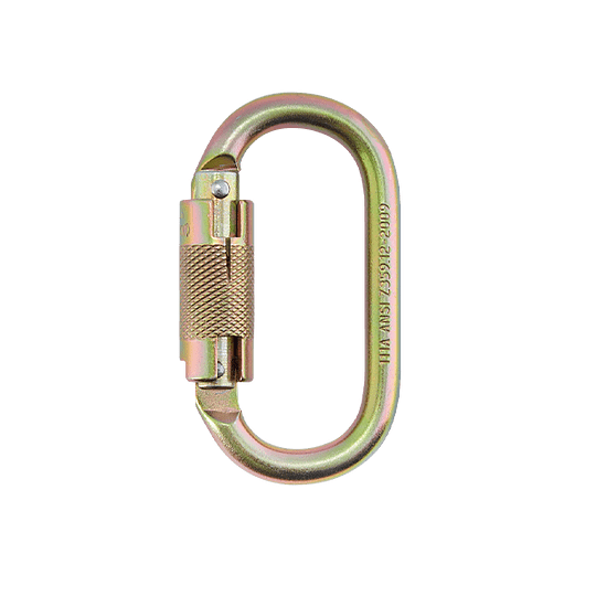 Mosquetón Simétrico en Acero Doble Seguro