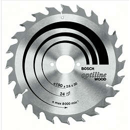 Disco de Sierra Circular Optiline Wood  18.4 cm x 60 Dientes