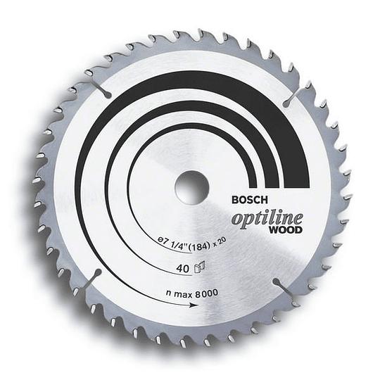 Disco de Sierra Circular Optiline Wood de 21 cm x 24 Dientes