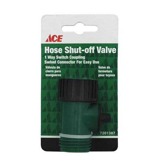 Válvula De Cierre para Manguera Verde Y Negro Ace