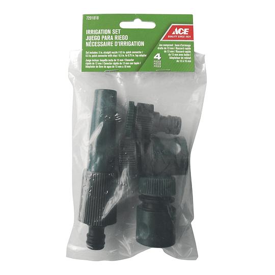 Conexión Por Juego Rápido Para Manguera Bronce/Plástico Hembra-Macho Ace