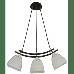 Lampara Colgante 3 Luces E27 60W