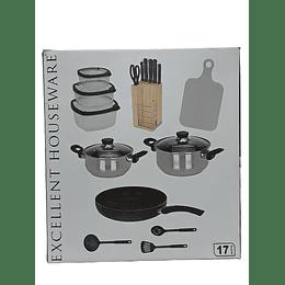 Set de Utensilios de Cocina 17pcs
