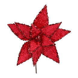 Adorno Navideño Pick Poinsettia  30 cm