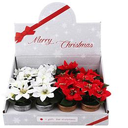 Adorno Navideño Poinsettia Decorativa