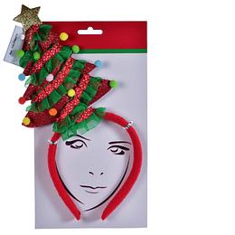 Vincha Navideña con Árbol de Navidad