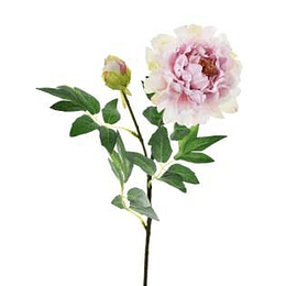 Flor Peony Rosada 70 cm