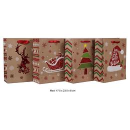 Bolsa de Regalo Navidad de 17.5 x 23.5 x 8 cm
