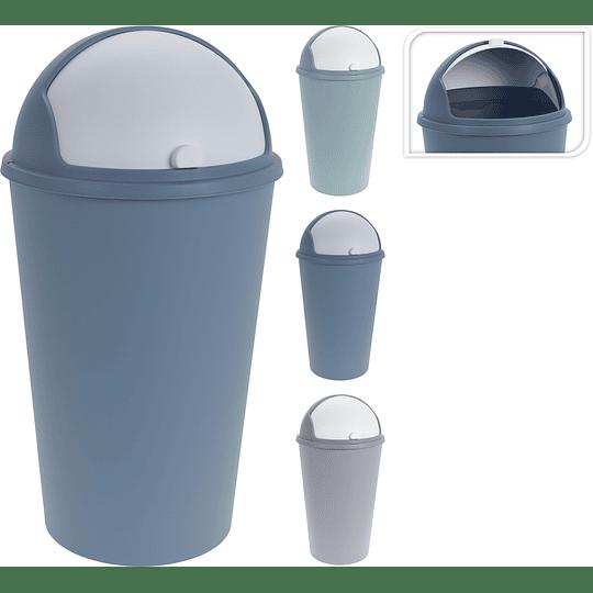 Tanque Para Basura Con Tapa Basculante Plástico 25 Litros
