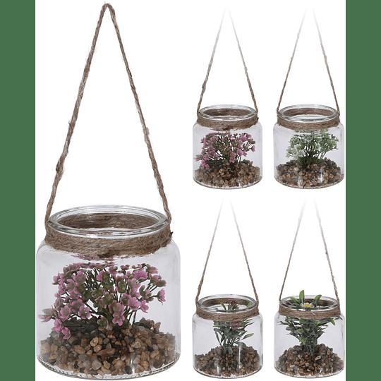 Tarro Con Plantas Colgar 10 x 95 cm