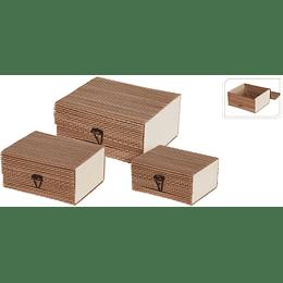 Cajas De Bambú x 3 und