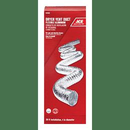 """Ducto Metálico En Aluminio 4"""" x 6 mt"""