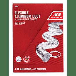 """Ducto Metalico En Aluminio 4"""" x 2.4 mt"""